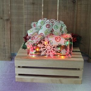 Other - New Christmas Holiday Table Decor Peace Light Blok